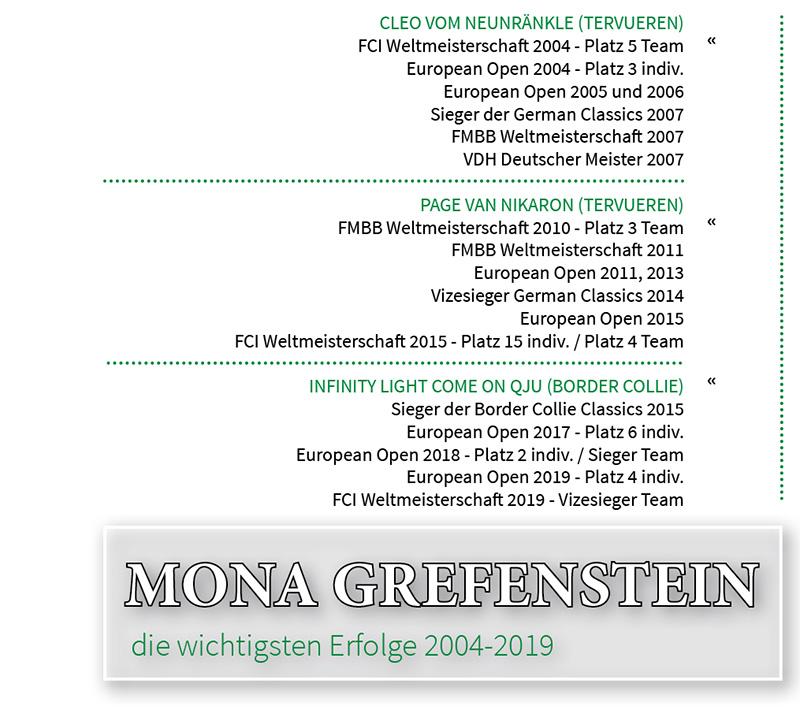 Erfolge Mona Grefenstein