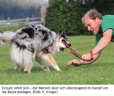 Hund glaubhaft gewinnen lassen